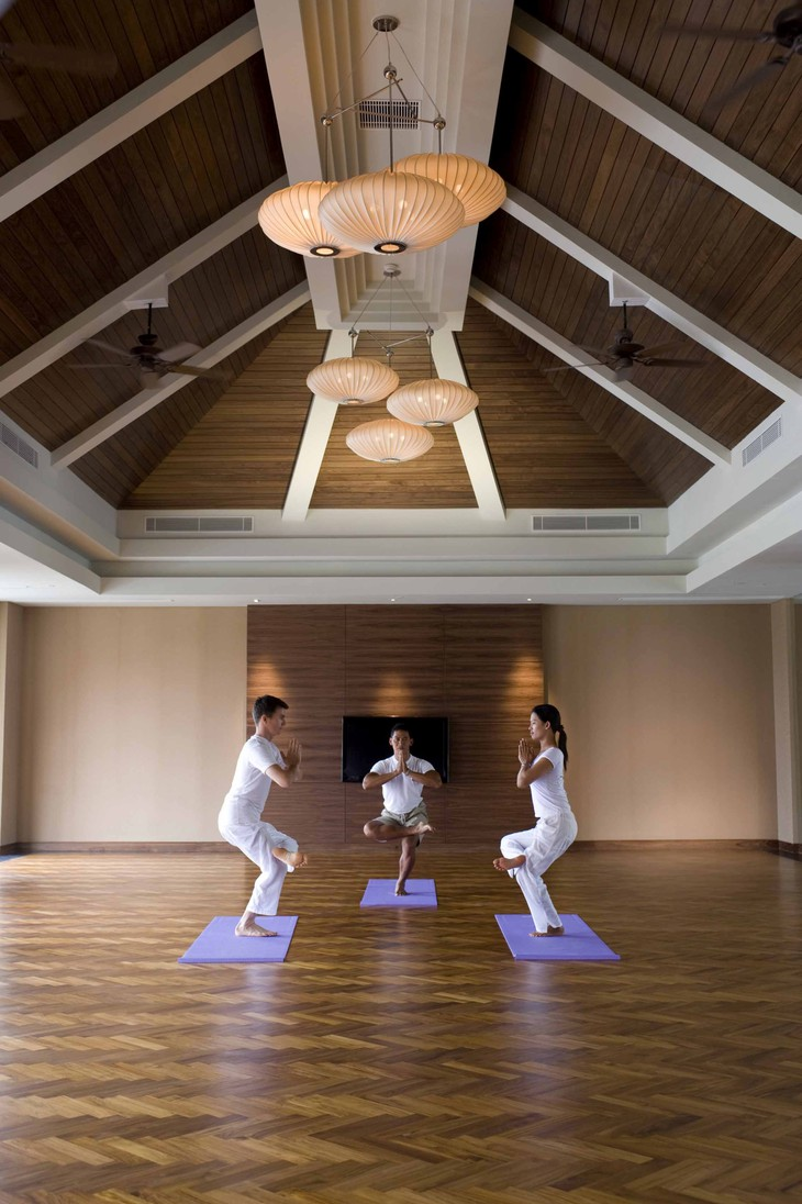 Conrad Bali wellness center yoga