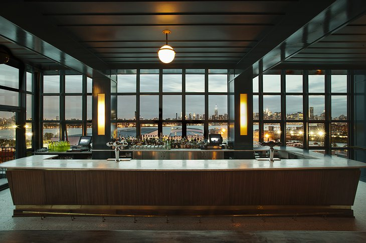 The Ides rooftop bar in the Wythe Hotel