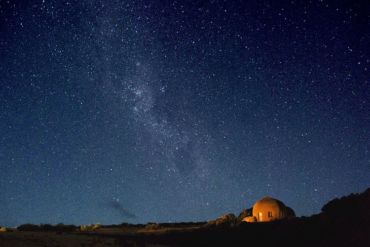 Starry night in South Africa at the Naries Namakwa Retreat