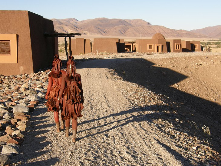 Himba at the lodge