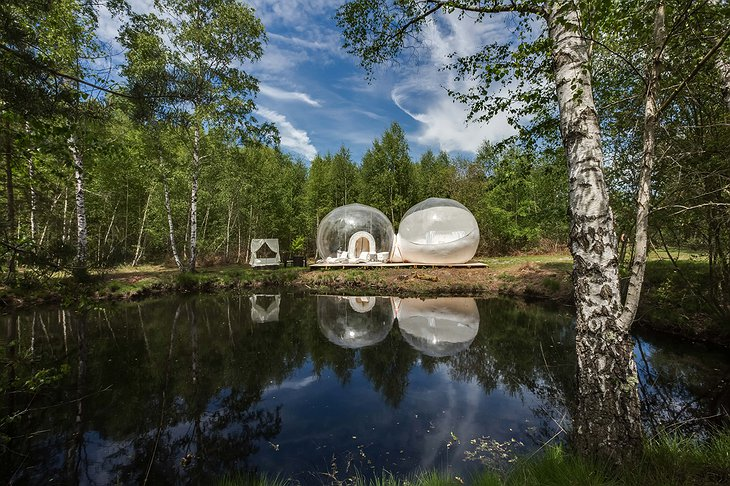 Gites Insolites de Sologne - Bubble Suite at the lake in the forest