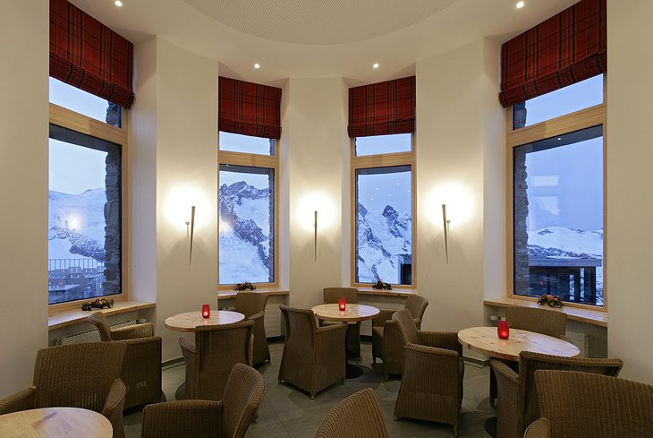 Kulmhotel Gornergrat restaurant Swiss Alps views