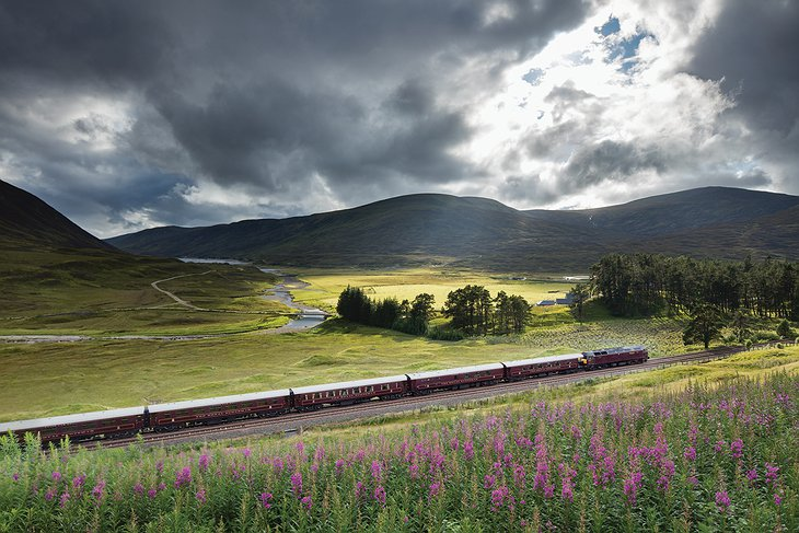 Railway Across The Scottish Highlands