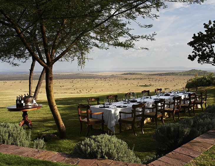 Singita Sasakwa Lodge outdoor dining