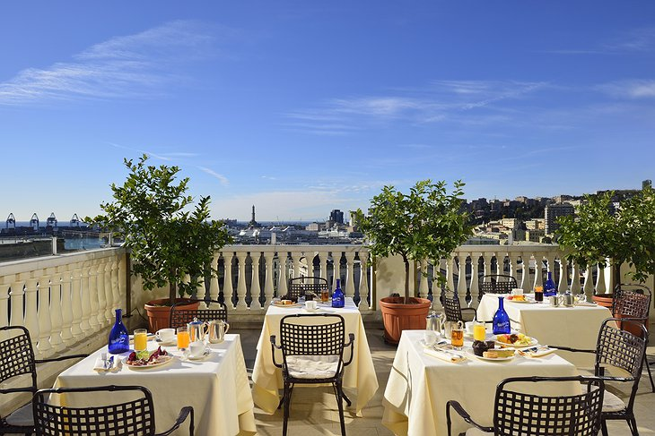 Grand Hotel Savoia Genova rooftop terrace
