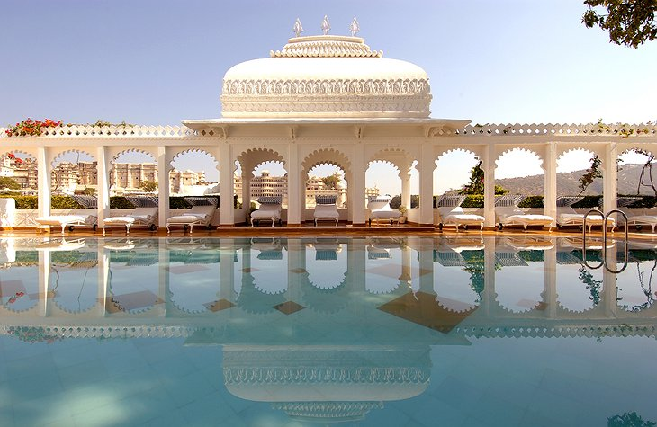 Lake Palace Hotel swimming pool