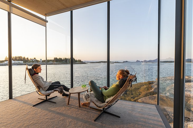 Manshausen Island Seacabin Panorama Enjoyed by Two Women