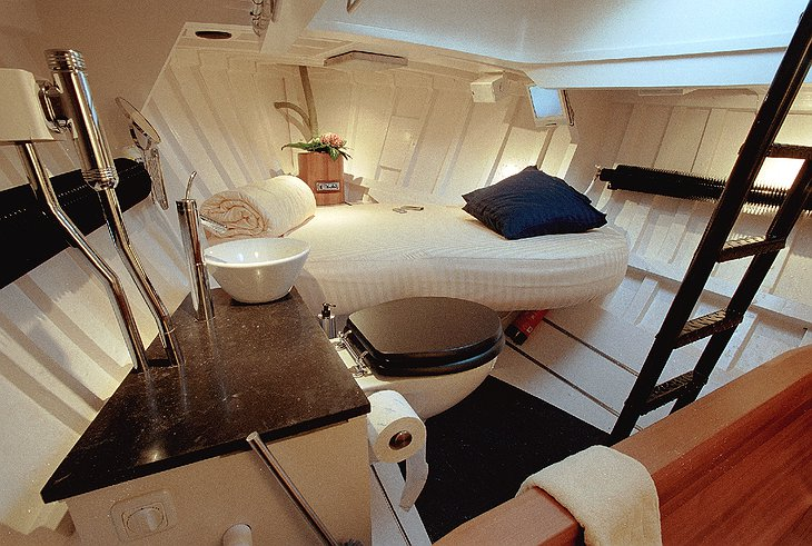 Lifeboat Hotel cabin