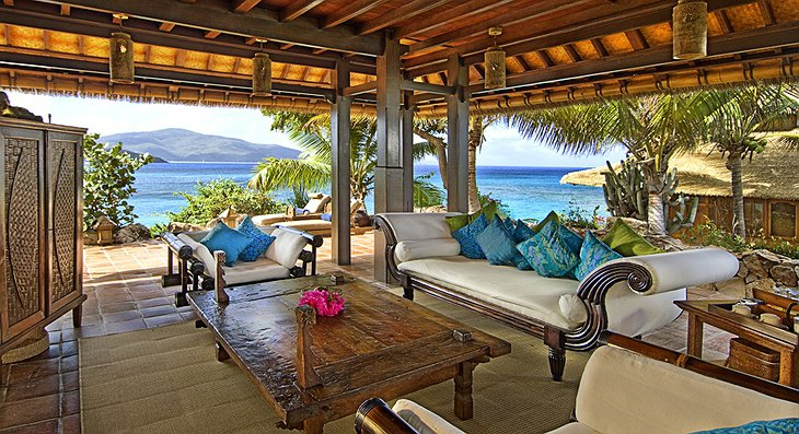 Necker Island terrace