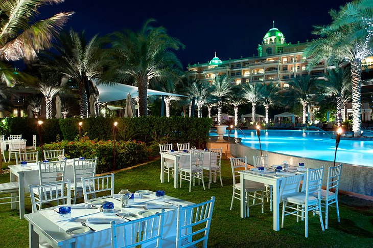 Kempinski Palm Jumeirah pool dining