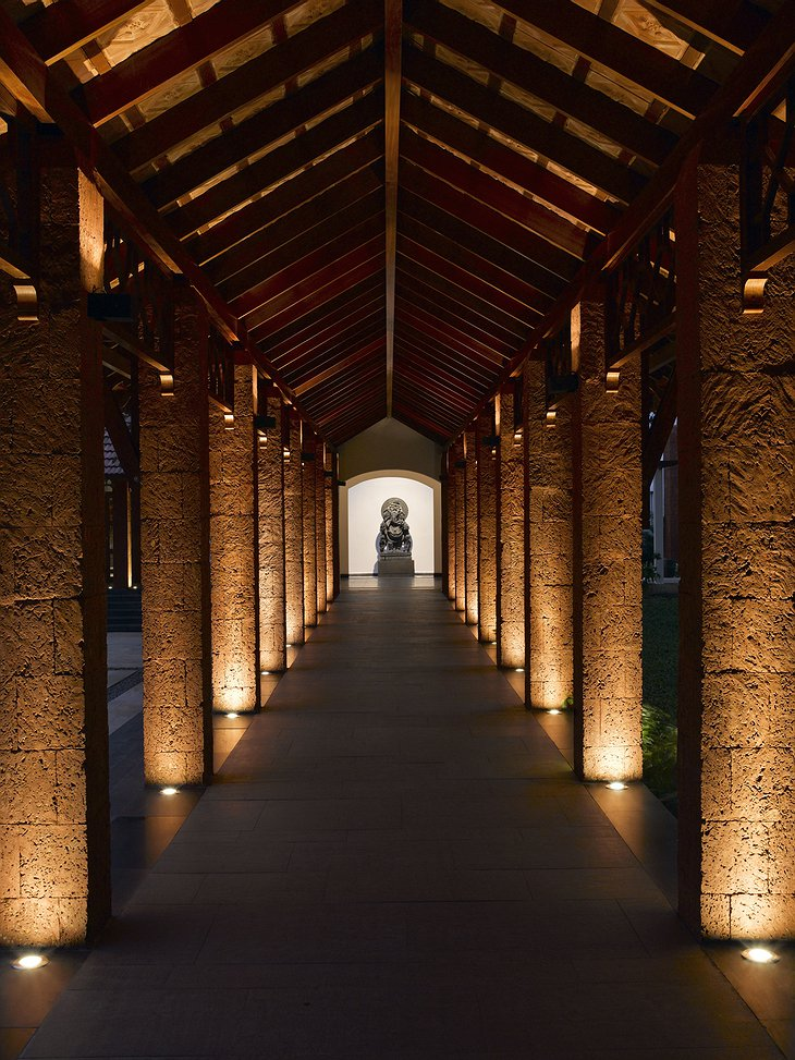 Alila Diwa Goa hallway at night
