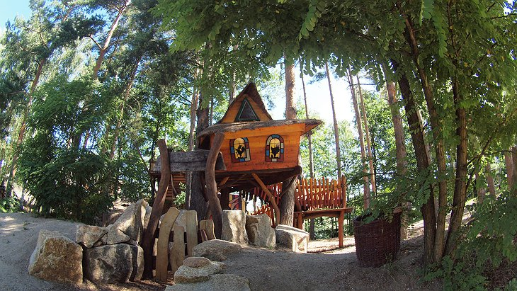 Baumhaushotel treehouse for the kids