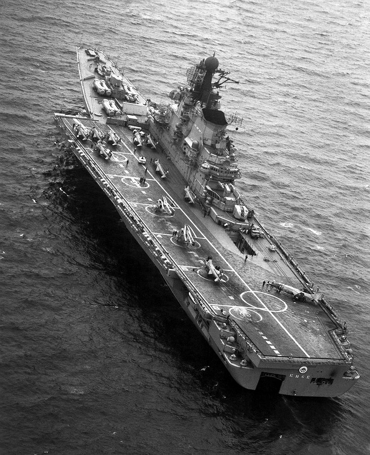 Aircraft carrier Kiev in USSR in 1985