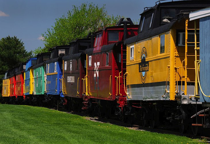 Red Caboose Motel Colorful Trains