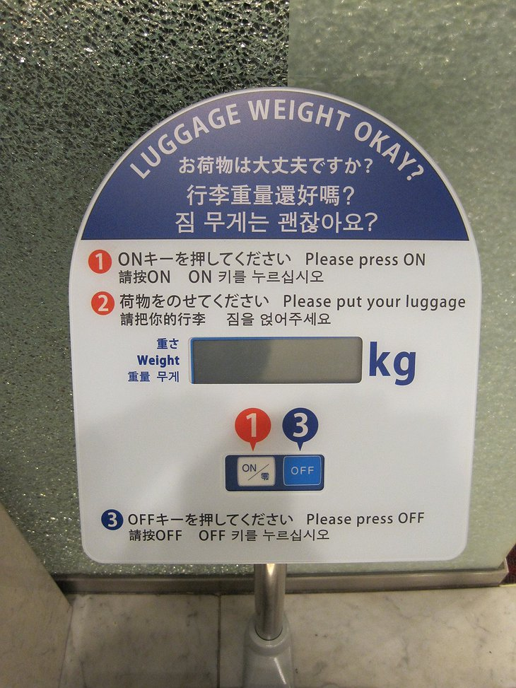 Luggage weight okay?