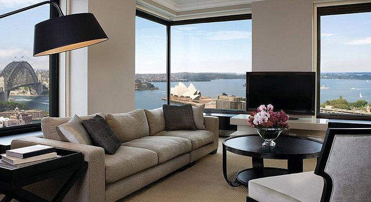 Four Seasons Sydney hotel room with panoramic views on the Opera House