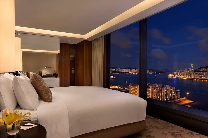 Hotel ICON room with Hong Kong views