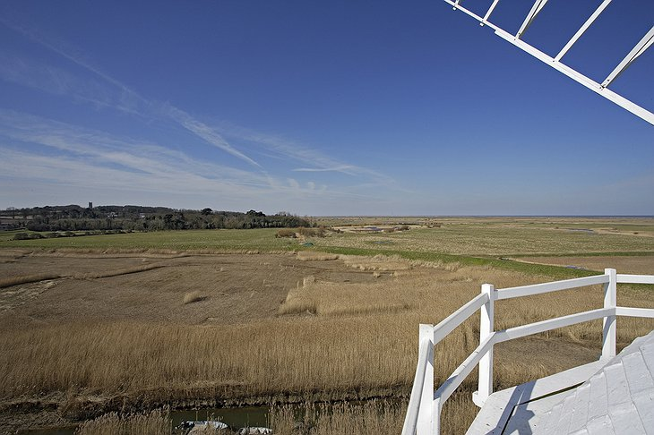 View from the top of Cley Windmill