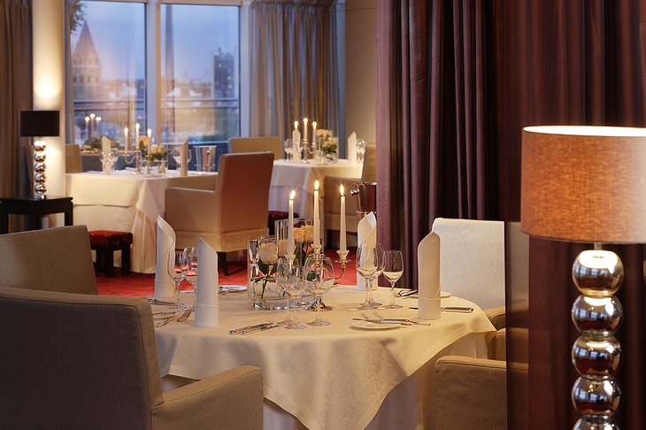 Hotel im Wasserturm romantic dinner with candles