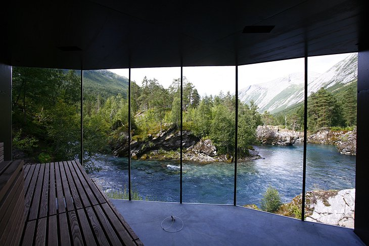 The view from the sauna