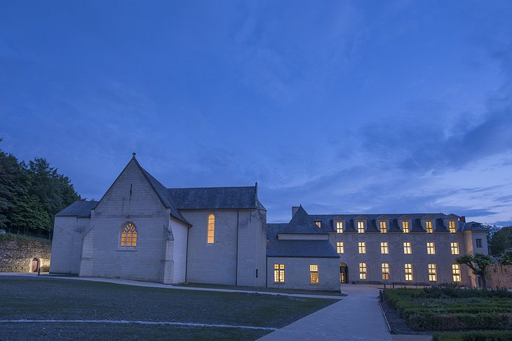 Fontevraud Hotel at night