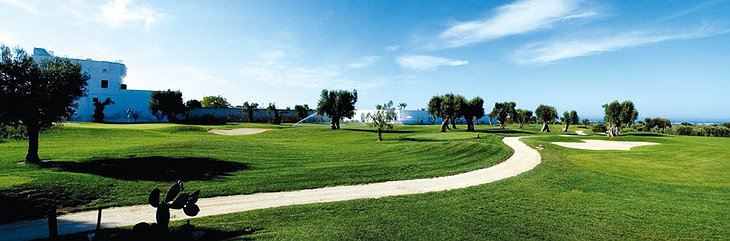 Golf track of Masseria Torre Coccaro hotel