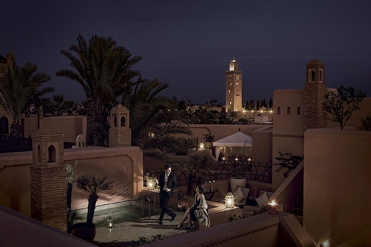 The Royal Mansour Marrakech rooftop romance at the private pool