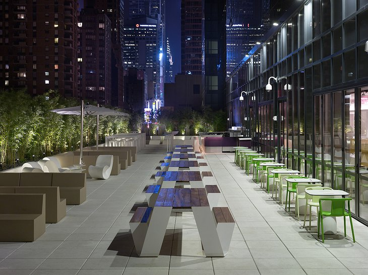 Yotel terrace in New York