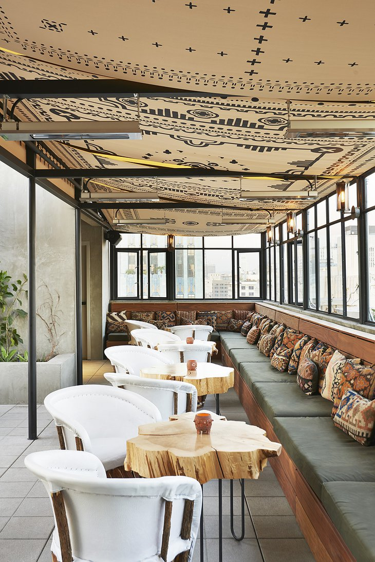 Ace Hotel Downtown Los Angeles rooftop chill