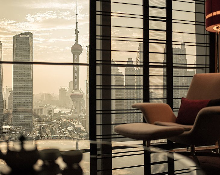 Four Seasons Hotel Pudong room skyline views