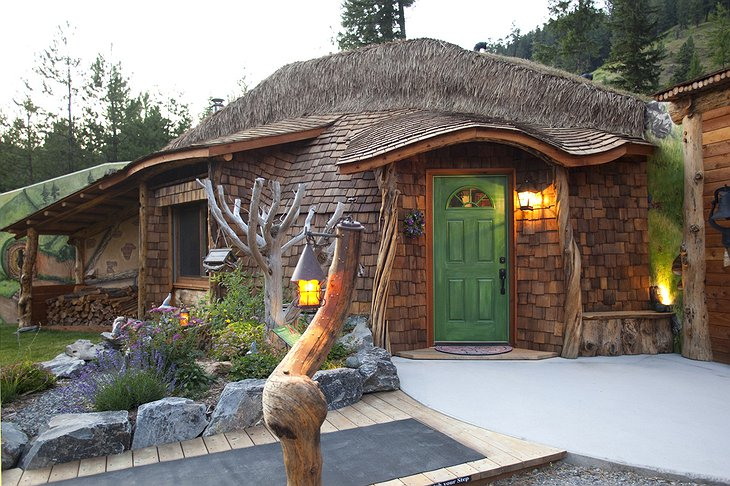 Hobbit House with lights