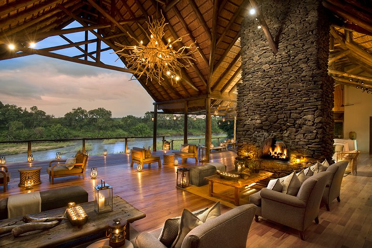 Lion Sands Private Game Reserve main lounge
