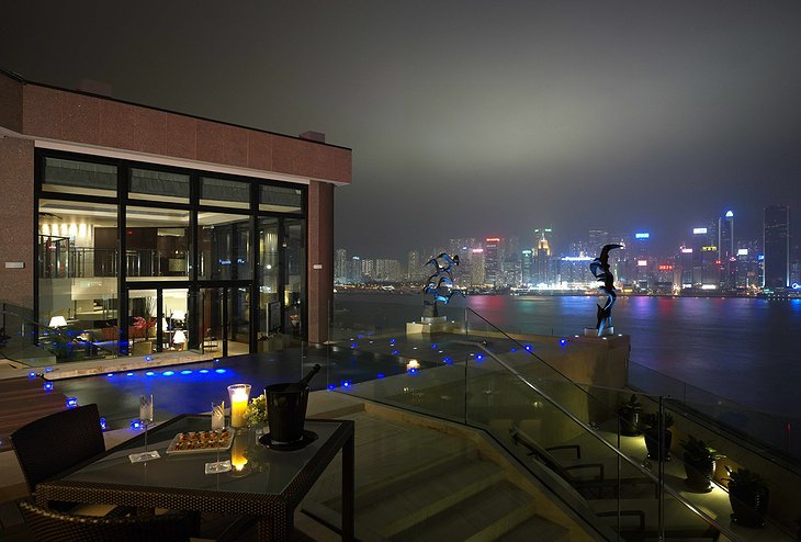 InterContinental Hong Kong Presidential Suite rooftop terrace with pool and panorama