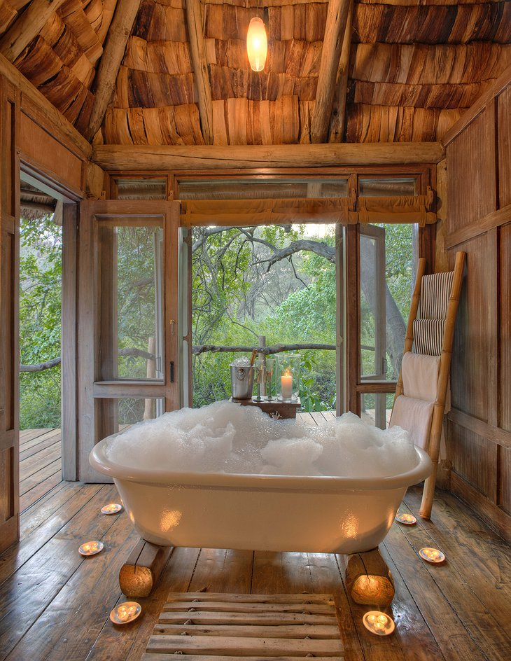 Ensuite Bathroom at &Beyond Lake Manyara Tree Lodge