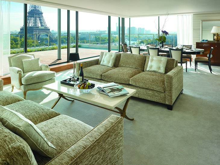 Shangri-La Hotel Paris suite with Eiffel Tower views