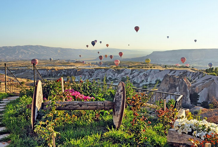 Cappadocia nature and hot air balloons