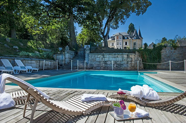 Château d'Orfeuillette swimming pool
