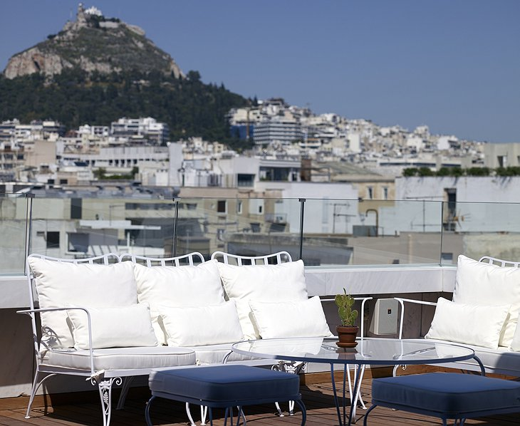 NEW Hotel Athens rooftop terrace with Acropolis panorama