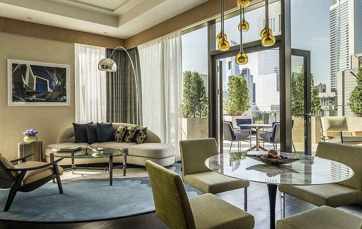 Four Seasons Dubai DIFC suite with terrace