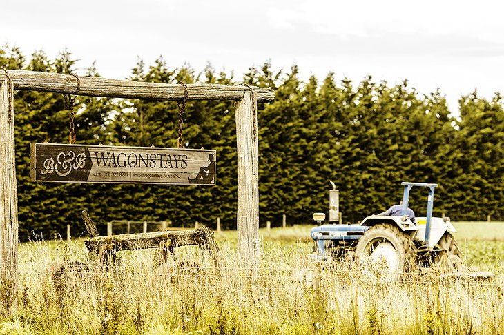 WagonStays sign at the farm