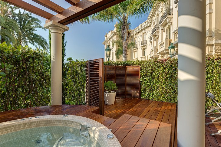 Hotel Hermitage Monte-Carlo private jacuzzi on the balcony