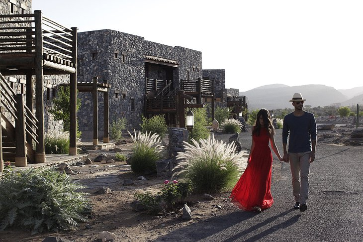 Couple walking at the Alila Jabal Akhdar resort