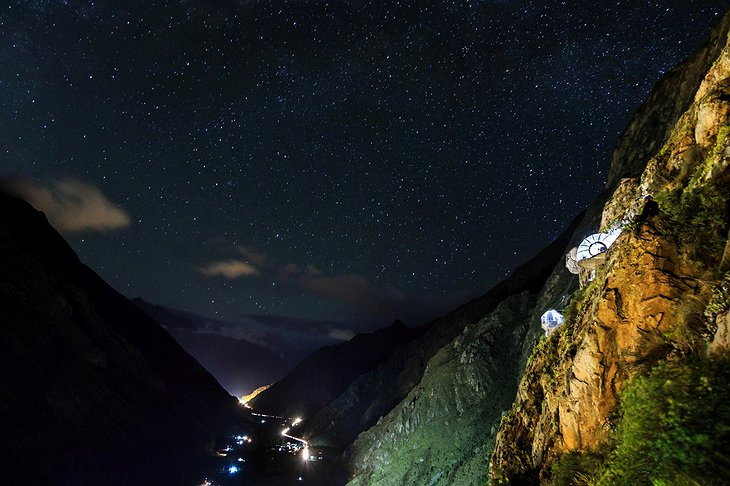 Starry night in the Sacred Valley of Cusco, Peru