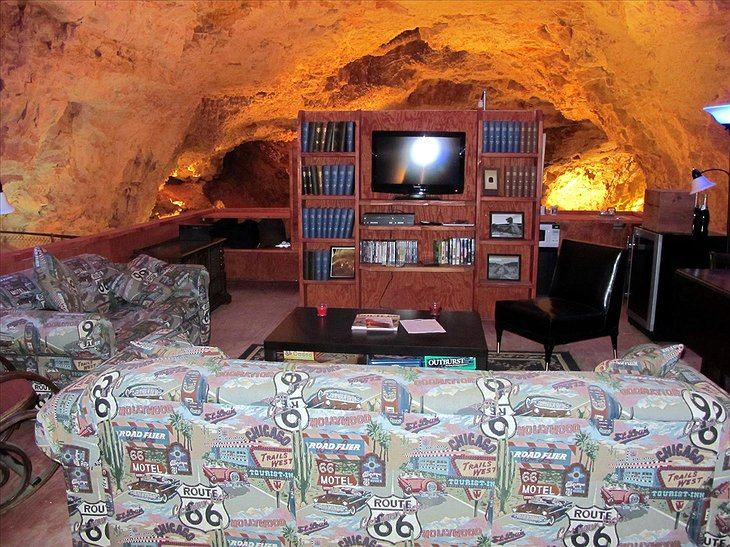 Grand Canyon Caverns Cave Room with TV
