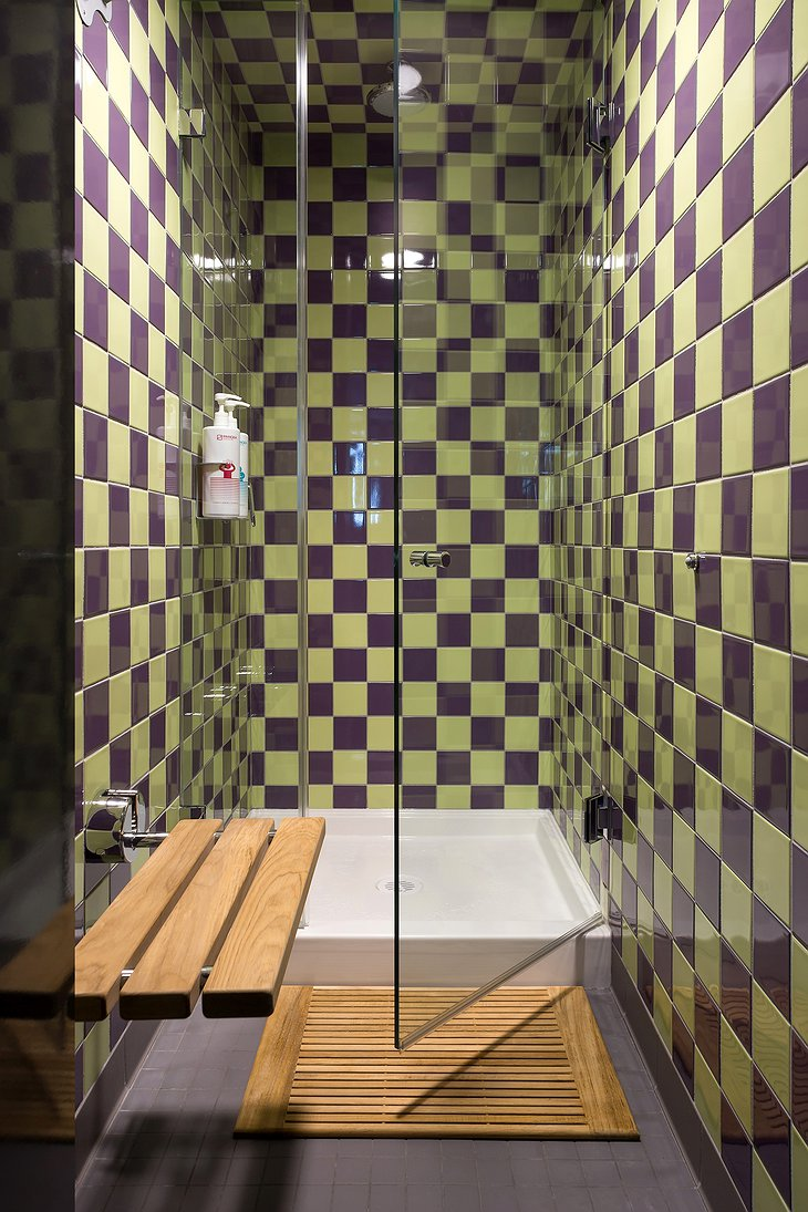 Pangea Pod Hotel Shower