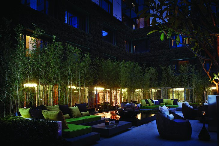 The Mira Hotel terrace