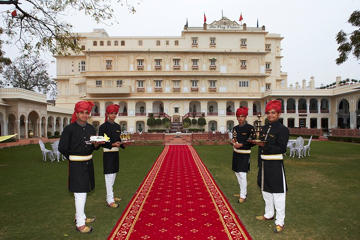 The Raj Palace welcome