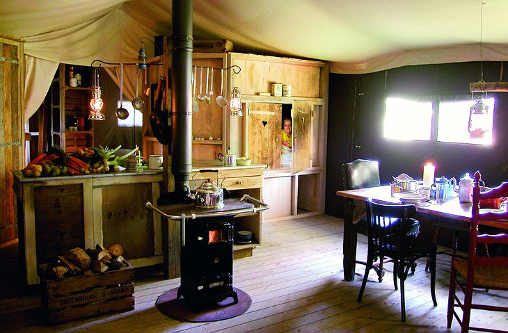 Manor Farm Alton tent kitchen
