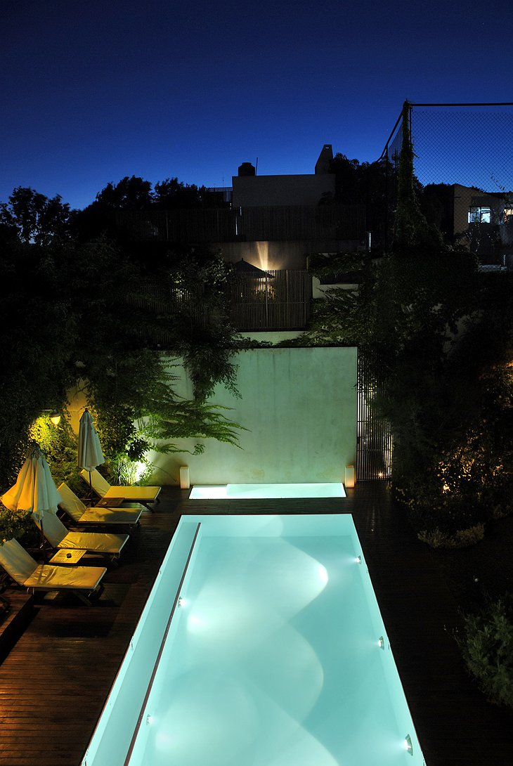 Home Hotel Buenos Aires swimming pool at night