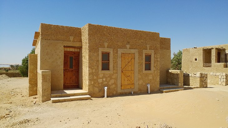 Talist Siwa two room clay house exterior